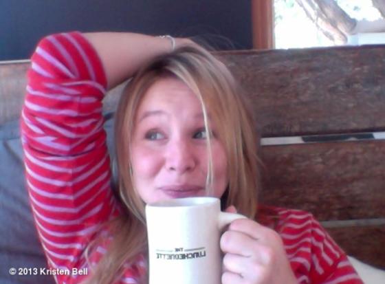 Kristen Bell is HAPPY
