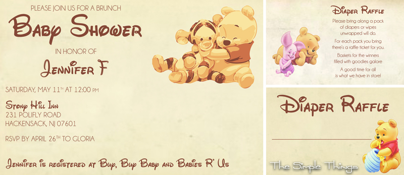 Tigger Baby Shower Invitations with adorable invitation ideas