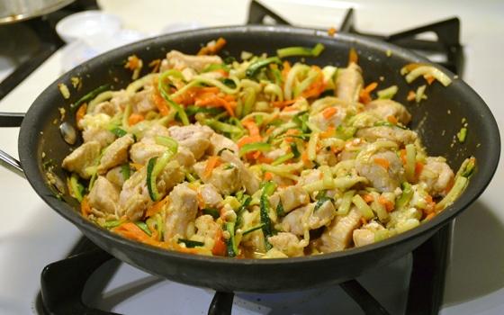 Chicken Zucchini Noodle Pad Thai