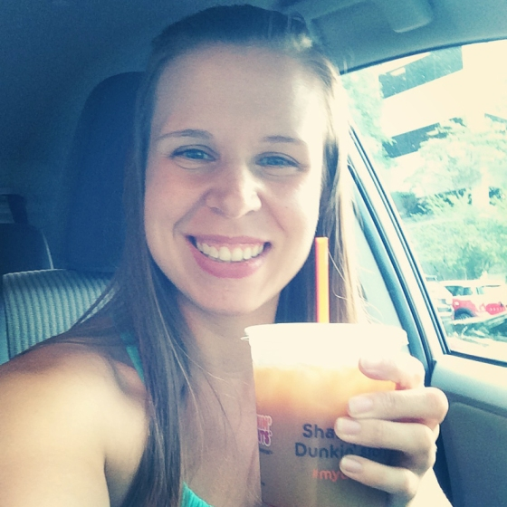 Pumpkin Coffee at Dunkin Donuts