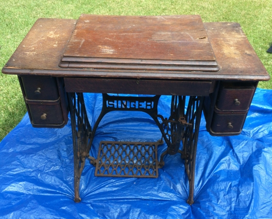 Singer Sewing Table Closed