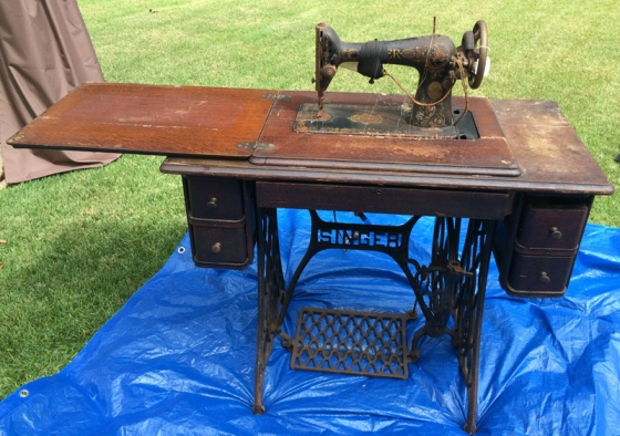 Singer Sewing Table Open
