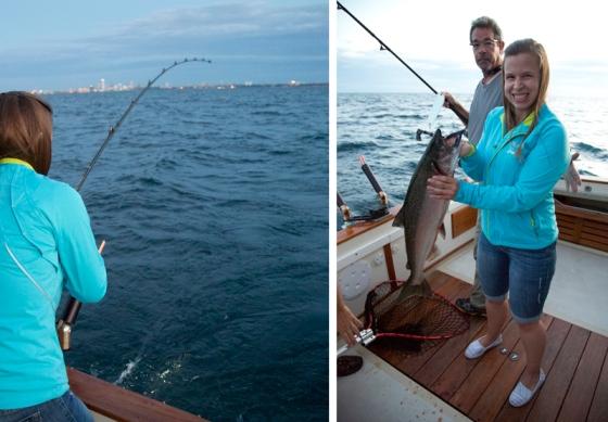 Fishing on Lake Michigan