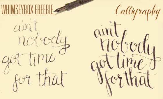 Whimseybox Calligraphy