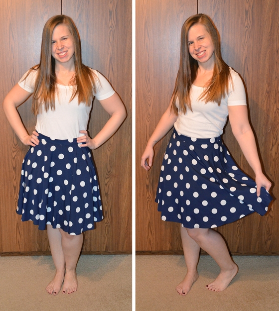 Hanneli Polka Dot Swing Skirt