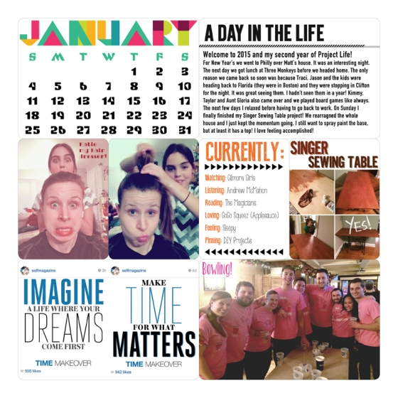 Project Life 2015 Page 2