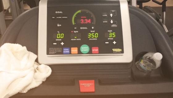 Running on the dreadmill