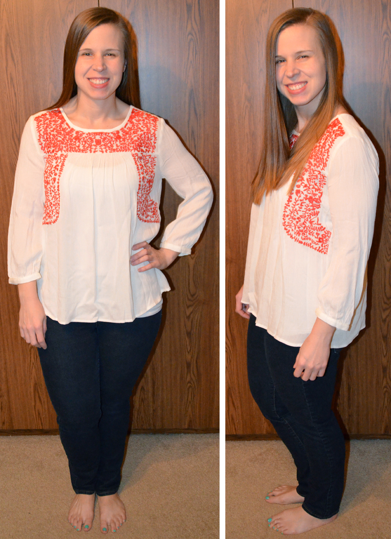 Sia Floral Embroidery Peasant Top The Simple Things