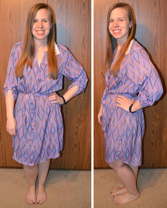 Rena Ikat Print Shirt Dress