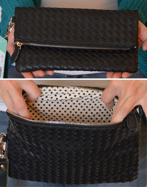 Adelade Woven Fold OVer Clutch