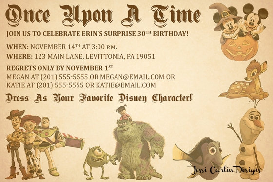 Disney Birthday Invitation