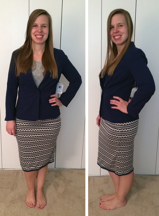Kensie Rebekah Stretch Crepe Blazer and Pixley Kendahl Skirt